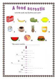 A food acrostic