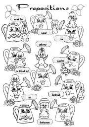English Worksheet: Prepositions of place (pictionary)