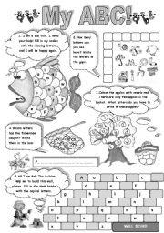 English Worksheet: MY A B C - FUN WITH ALPHABET  (amazing activities to practise English alphabet)