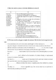 Printables Criminal Law Worksheets english teaching worksheets law and justice criminal law
