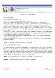 English Worksheets: Analysis of
