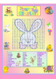 English worksheets: wordsearch worksheets, page 19