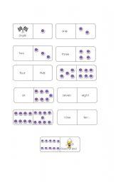 English worksheet: number dominoes