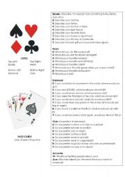 English Worksheet: Questions Game