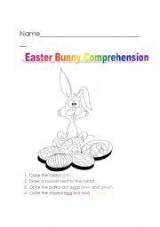 Easter bunny comprehension