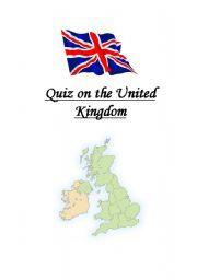 English Worksheet: Quiz on the United Kingdom
