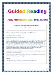 COMPREHENSIVE task-based PROJECT! Guided reading & writing: HARRY ...