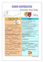 English Worksheet: Guided conversation - Entertainment