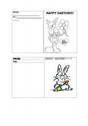 English Worksheet: EASTER CARD