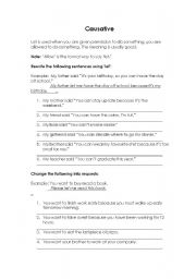 English worksheet: Causative