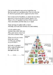 Food Pyramid Song Lyrics and Chart