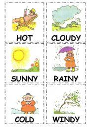 English Worksheet: weather types...