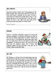 English Worksheet: information gap activity text 3, 4 and 5
