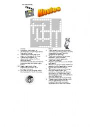 English Worksheets: GENRES OF MOVIES CROSSWORD