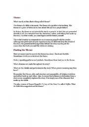 English Worksheets: THeme