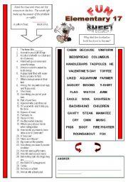 English Worksheet: Fun Sheet Elementary 17