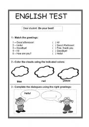 English worksheets easy english test easy english test m4hsunfo Gallery