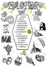 English Worksheet: EASTER SYMBOLS