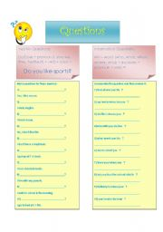 English Worksheets: Yes/ No and Wh-word Question practice