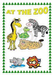 English Worksheets: At the zoo!!