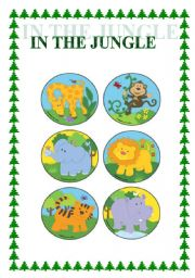 English Worksheets: In the jungle