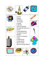 English Worksheet: Stranded on a desert island