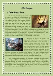 English Worksheet: The Dragon