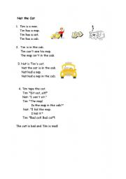 English Worksheets: Nat the Cat (2 pages)