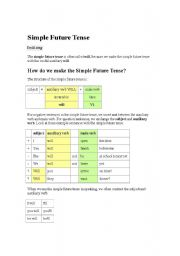 English worksheet: simple future