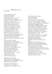 English Worksheet: Letter of song