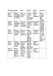 English Worksheet: jeopardy game show overhead
