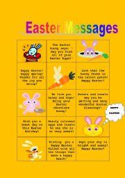 English Worksheet: Easter Messages