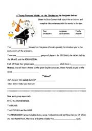 english worksheets a young person s guide to the orchestra. Black Bedroom Furniture Sets. Home Design Ideas