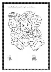 Colour the Easter picture following the numbers