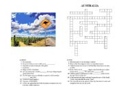 Crosswords on AUSTRALIA (Version 1/3) with ANSWER KEYS