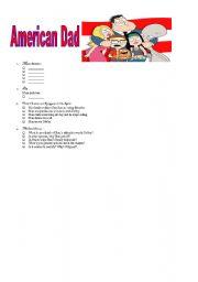English Worksheets: American Dad