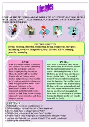 English Worksheets: �Lifestyles� - reading, vocabulary, discussion or writing