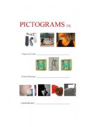 English Worksheets: Pictograms B (2 of 4)