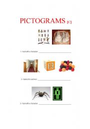 English Worksheets: Pictograms C (3 of 4)