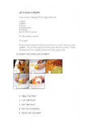 English Worksheet: fruit yoghurt dessert