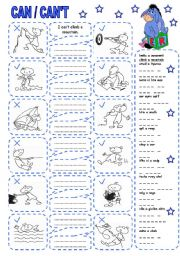 English Worksheet: CAN / CAN´T (4)