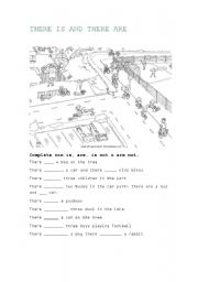 English Worksheets: there is/are
