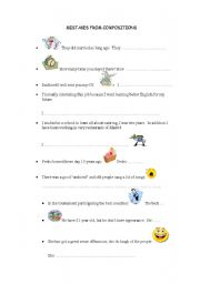 English Worksheets: MISTAKES FROM COMPOSITION