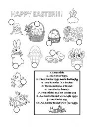 English Worksheet: Happy Easter!