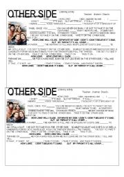 English Worksheets: OTHER SIDE - RED HOT CHILI PEPPERS
