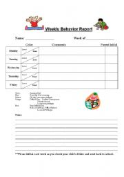 Printable Anecdotal Record Form http://mommychris.com/oi-printable-weekly-behavior-report-preschool.htm