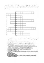 English Worksheet: crossword / British history and culture