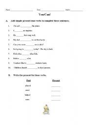 English worksheet: Simple Present practice