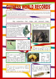 English Worksheets: GUINESS WORLD RECORDS