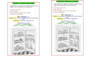 English Worksheet: Speaking There Is / Are / How much / many/ Food